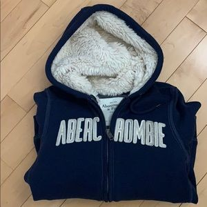 Fur lined Abercrombie sweater NWOT